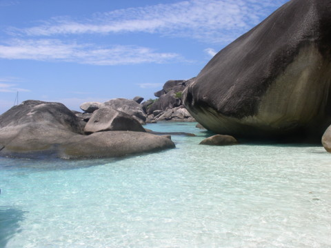 Granit Felsformation - Similan Islands