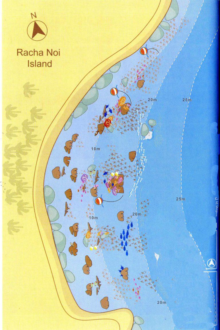 Unterwasserkarte Racha Noi - Kamala Dive Service