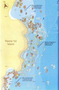 Unterwasserkarte Racha Yai