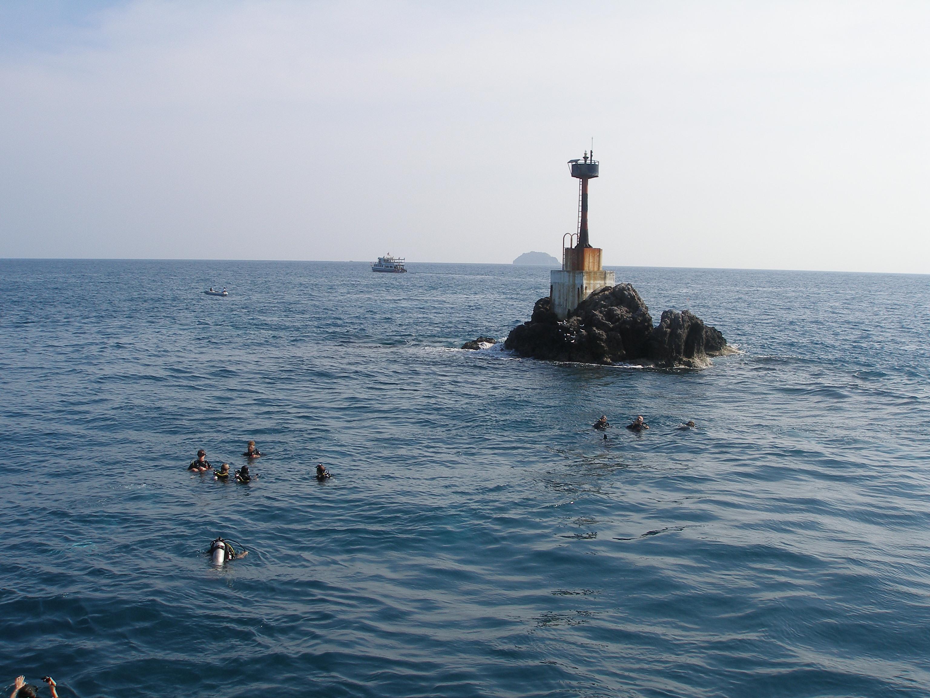 Tauchplatz Shark Point mit Phuket Tauchen,der Deutschen Tauchschule Phuket in Kamala Beach