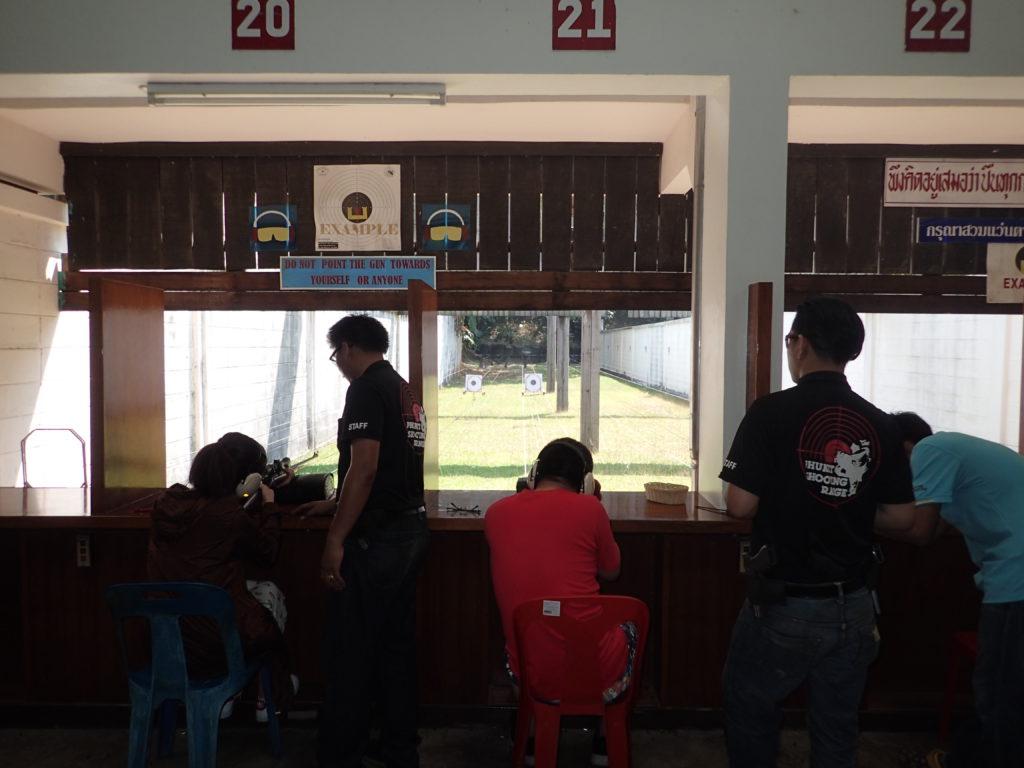 Schiesstand in Chalong mit der Deutschen Tauchschule Phuket