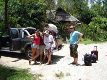 Pickup fahren mit der Deutschen Tauchschule Phukett