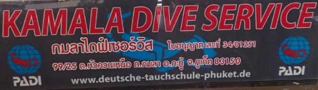 Kamala Dive Service - Firnenschild